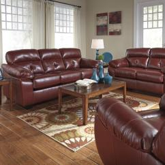 Ashley Red Leather Sofa Sm Furniture Philippines Benchcraft By Bastrop 4460238 4460235