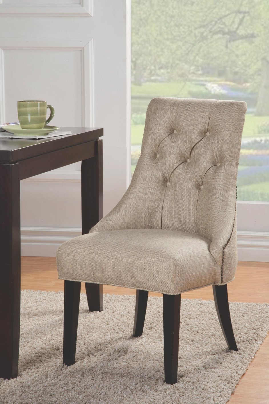 youth folding chair nursery rocking reviews coaster 104033 beige fabric accent - steal-a-sofa furniture outlet los angeles ca