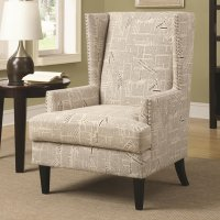 Coaster 902180 Beige Fabric Accent Chair - Steal-A-Sofa ...