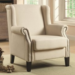 Beige Accent Chairs Best Lift Chair Recliner Coaster 902229 Fabric Steal A Sofa