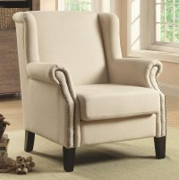 Coaster 902229 Beige Fabric Accent Chair - Steal-A-Sofa ...