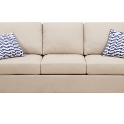 Tan Fabric Sofa Off White Table Poundex Camille F7988 Beige Steal A