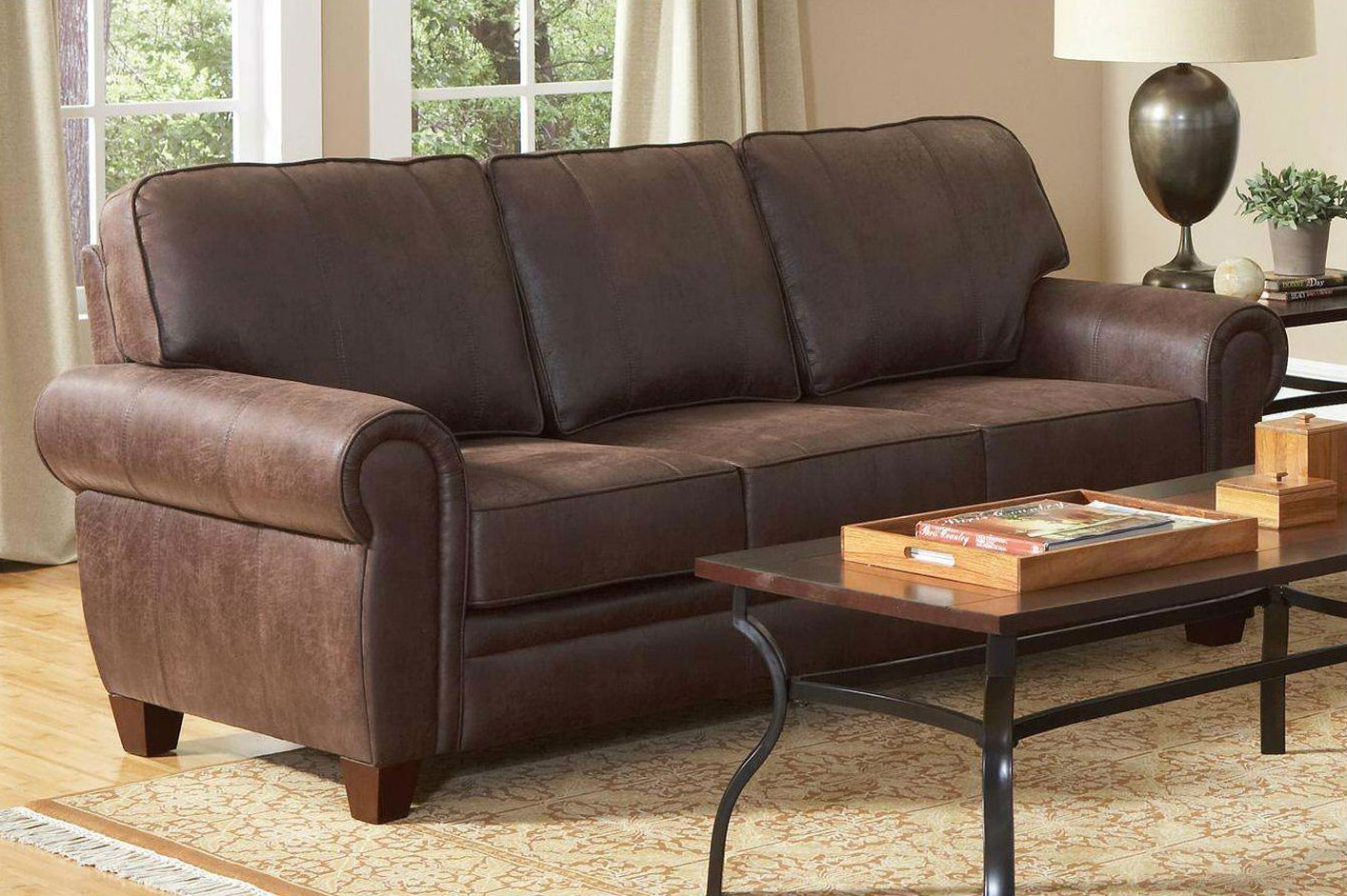 brown fabric sofa flip out chair coaster bentley 504201 steal a
