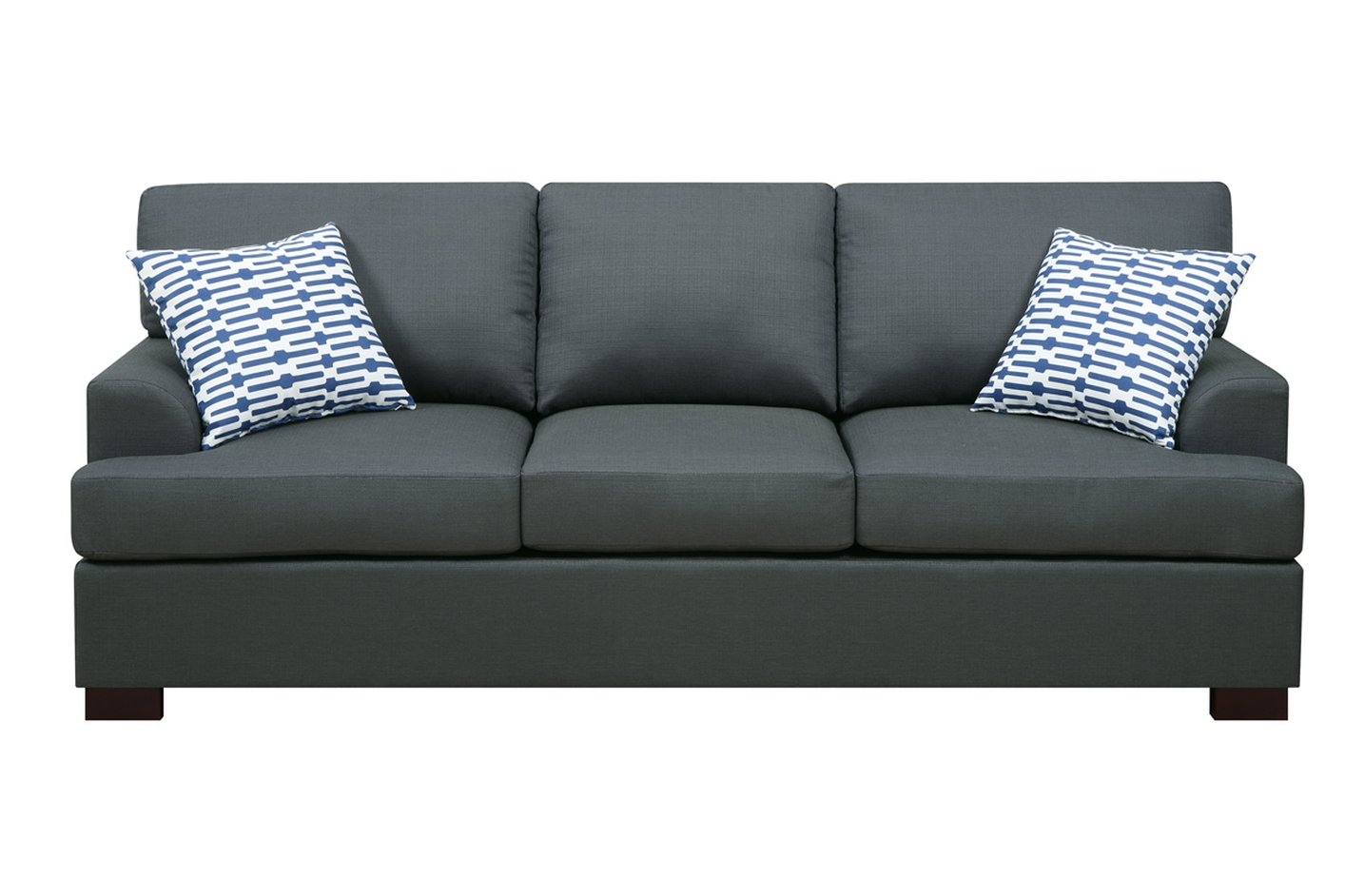 black fabric sofa chair reclinable poundex camille f7992 steal a