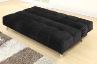 Poundex F7008 Black Twin Size Fabric Sofa Bed