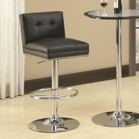 Coaster 102552 Black Leather Bar Stool - Steal-A-Sofa ...