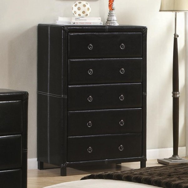 Black Chest with Drawers