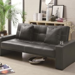 Black And White Leather Sofa Bed American Sleeper Disassembly Coaster 300125 Steal A