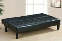 Poundex F7209 Black Twin Size Leather Sofa Bed - Steal-A ...