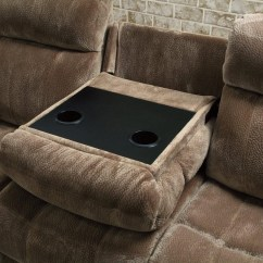 Reclining Sectional Sofa Fabric Foam Cushions For Wooden Coaster 603031 Brown Steal A