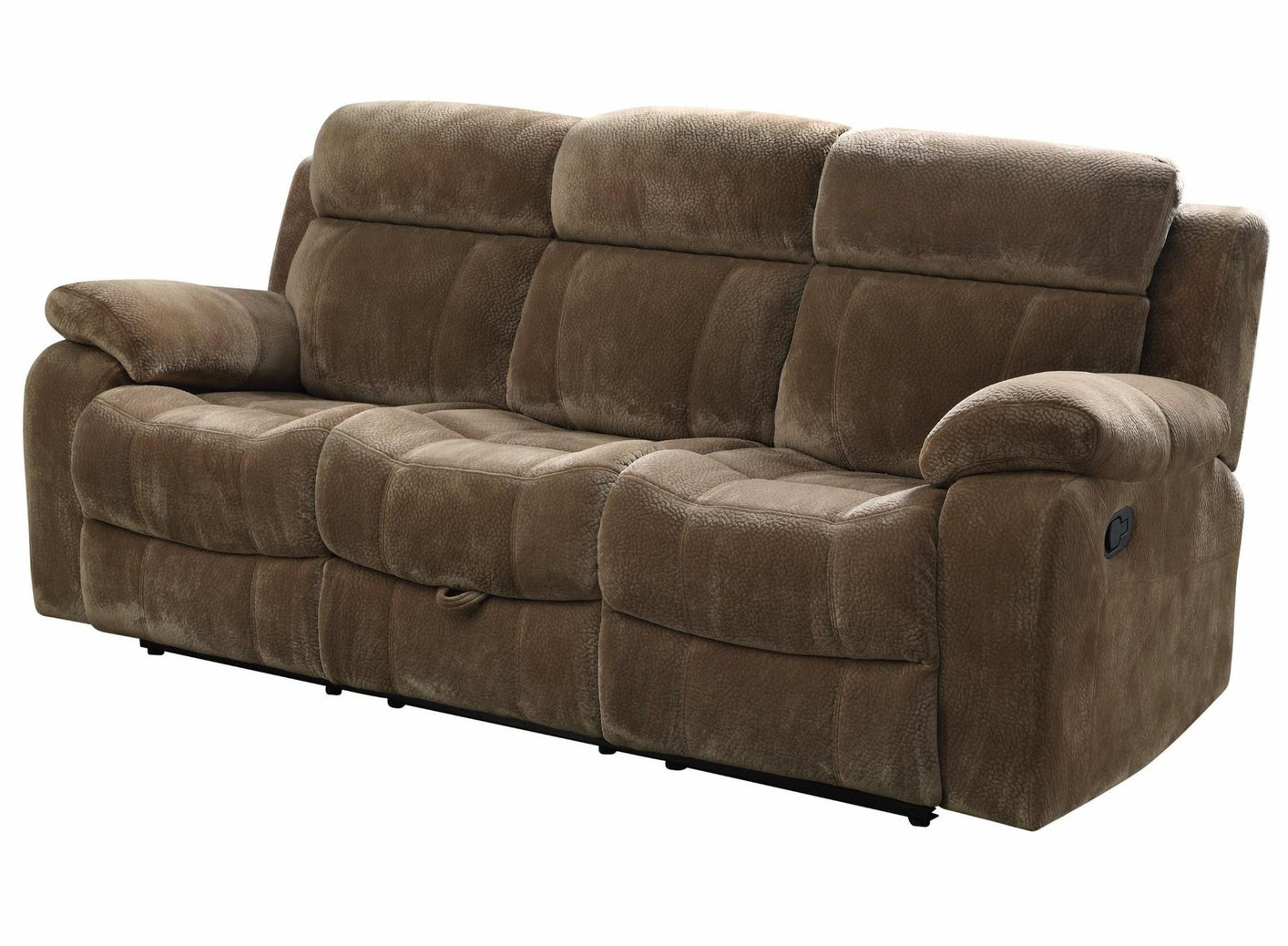 fabric reclining sofas sofa surfing usa coaster 603031 brown steal a