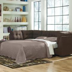 Brown Sectional Sleeper Sofa Heated Power Reclining Benchcraft By Ashley Maier 4520183 4520116 Fabric
