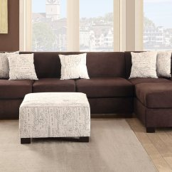 Brown Fabric Sofa Modular Design Poundex Nia F7981 Steal A