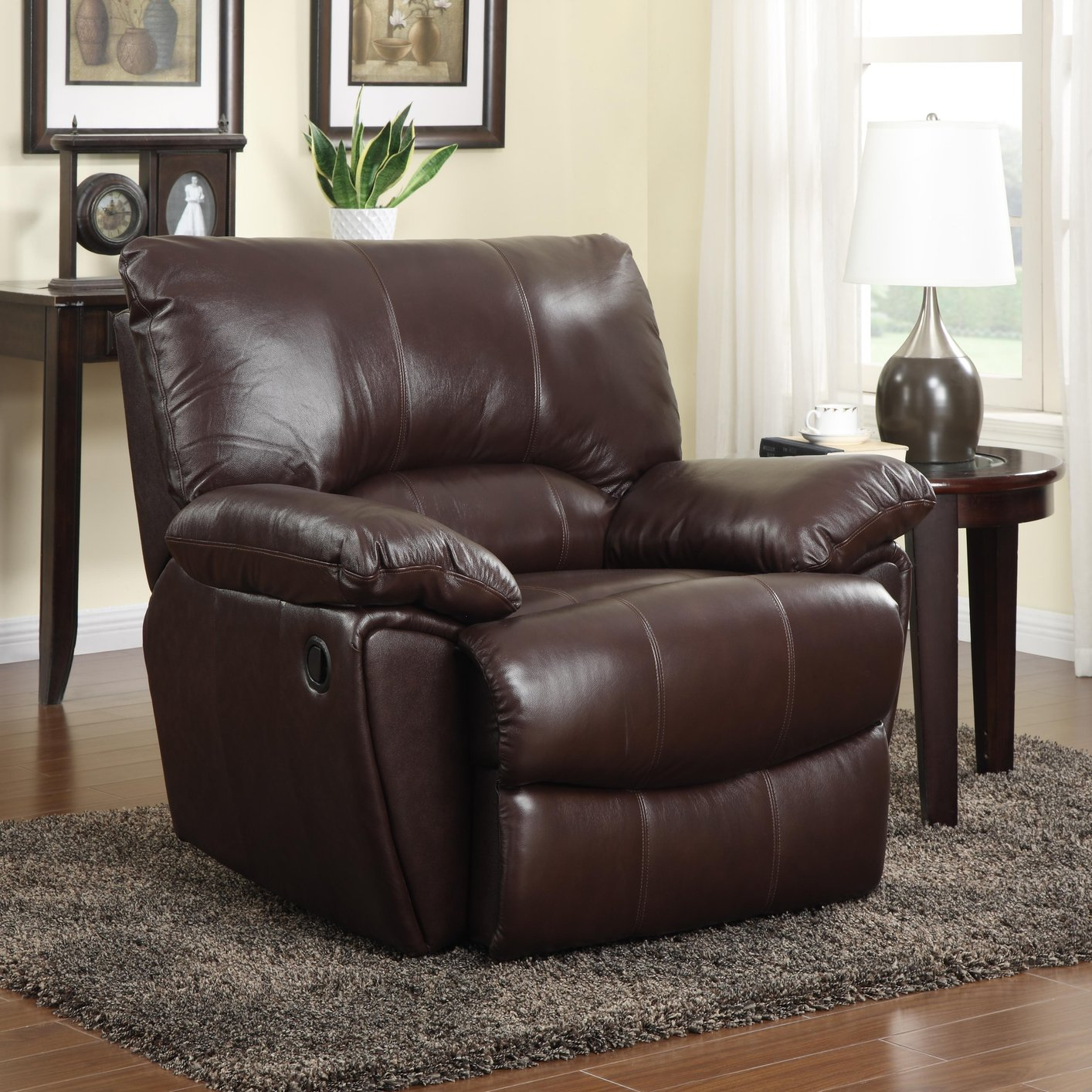 brown leather recliner chair ikea child coaster 600283p power reclining