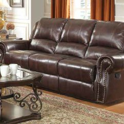 Brown Leather Sofa Recliner Queen Anne And Chairs Coaster 650161 Reclining Steal A