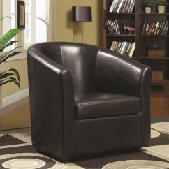 Brown Swivel Chair Costco Beach Chairs Backpack Coaster 902098 Leather Steal A Sofa
