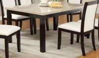 Poundex F2296 Brown Marble Dining Table - Steal-A-Sofa ...