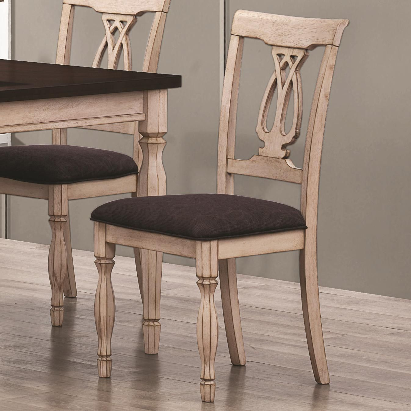White Wood Chair Coaster Camille 103582 White Wood Dining Chair In Los