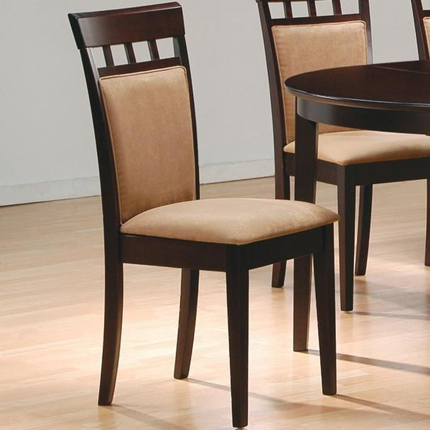 Coaster 100773 Brown Wood Dining Chair  StealASofa