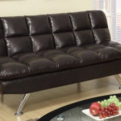 Twin Bed Sofa Couch Ellyson Slipcovered Queen Sleeper Poundex F7011 Brown Size Leather Steal A