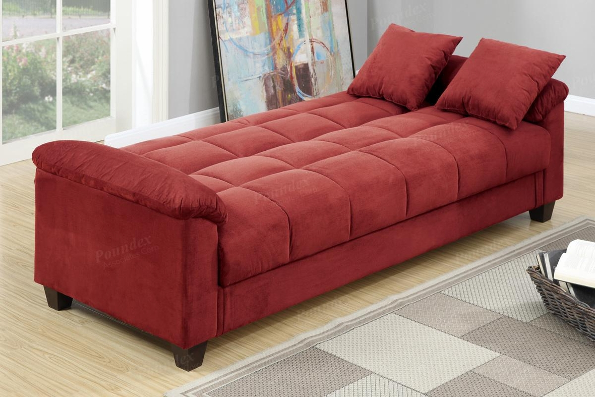 red fabric sofa sales near me poundex gertrude f7890 bed steal a
