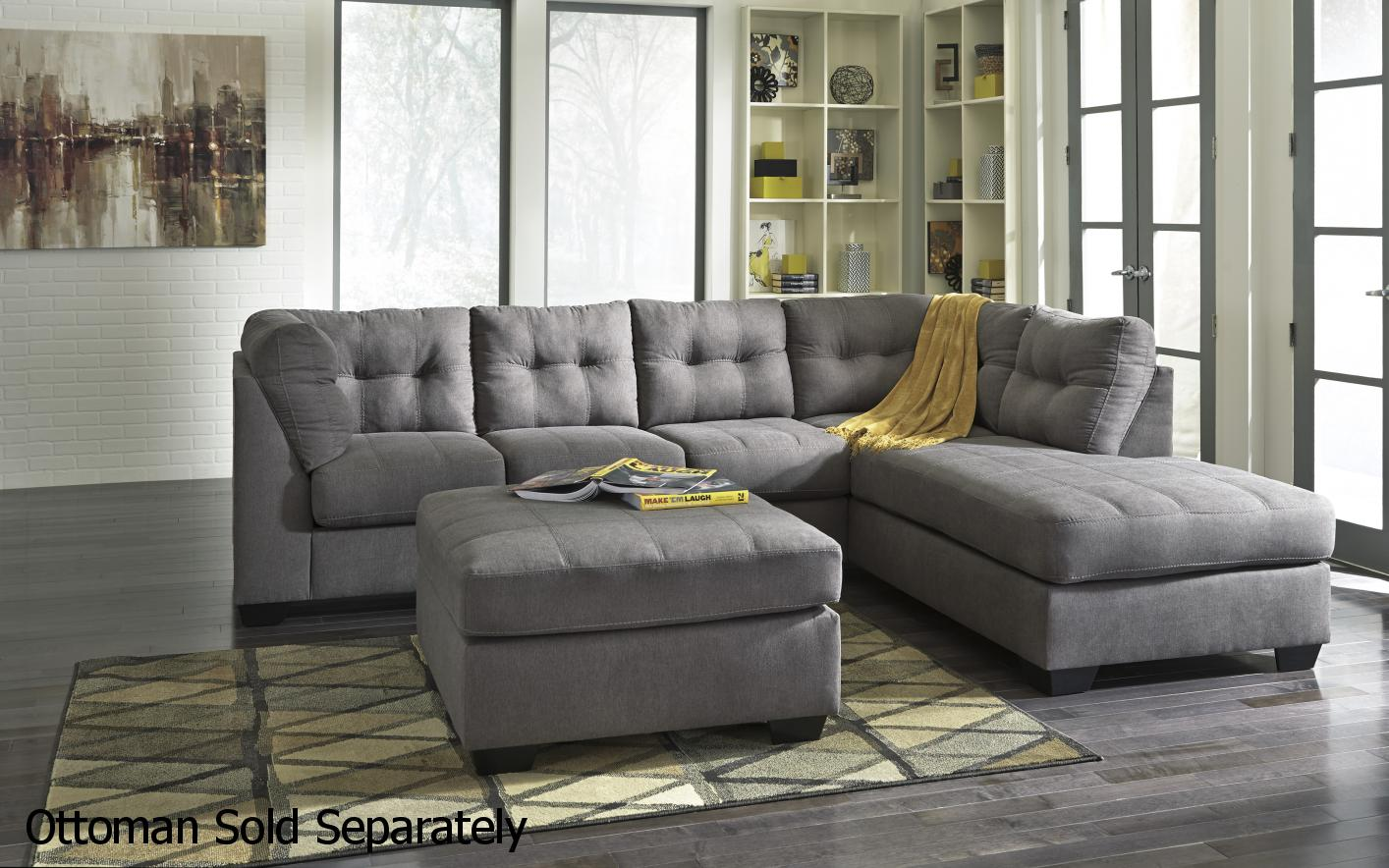 signature kitchen warehouse sale aid appliances ashley 4520017 4520066 grey fabric sectional sofa - steal ...