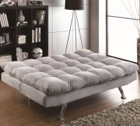 Coaster 500775 Grey Fabric Sofa Bed - Steal-A-Sofa ...