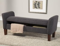 Coaster 500070 Grey Fabric Storage Bench - Steal-A-Sofa ...
