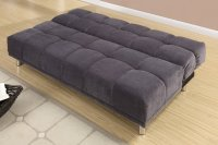 Poundex F7010 Grey Twin Size Fabric Sofa Bed