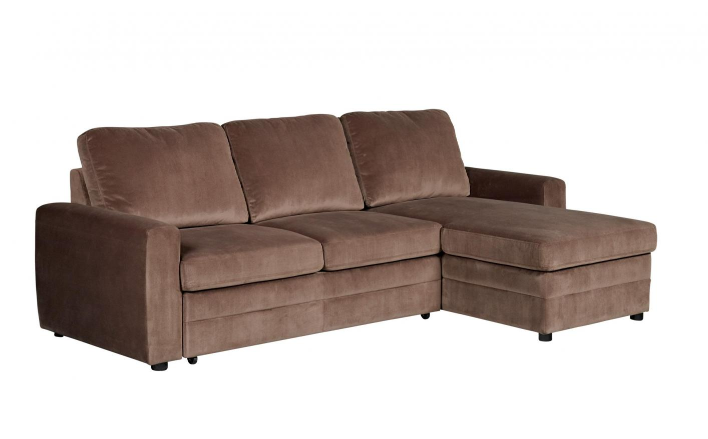 gus sectional sleeper sofa with pull out bed underneath coaster 503871 brown fabric steal a