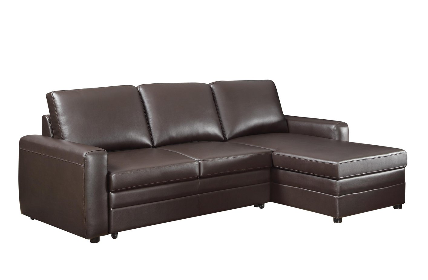 gus sectional sleeper sofa best sofas toronto coaster 503870 brown leather steal a