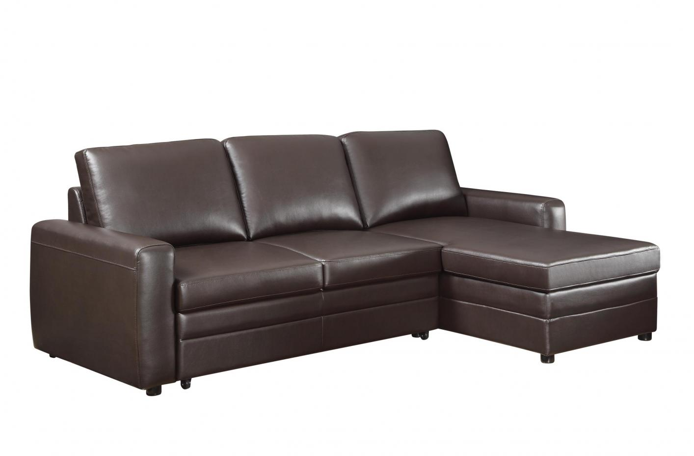 Coaster Gus 503870 Brown Leather Sectional Sofa  StealA