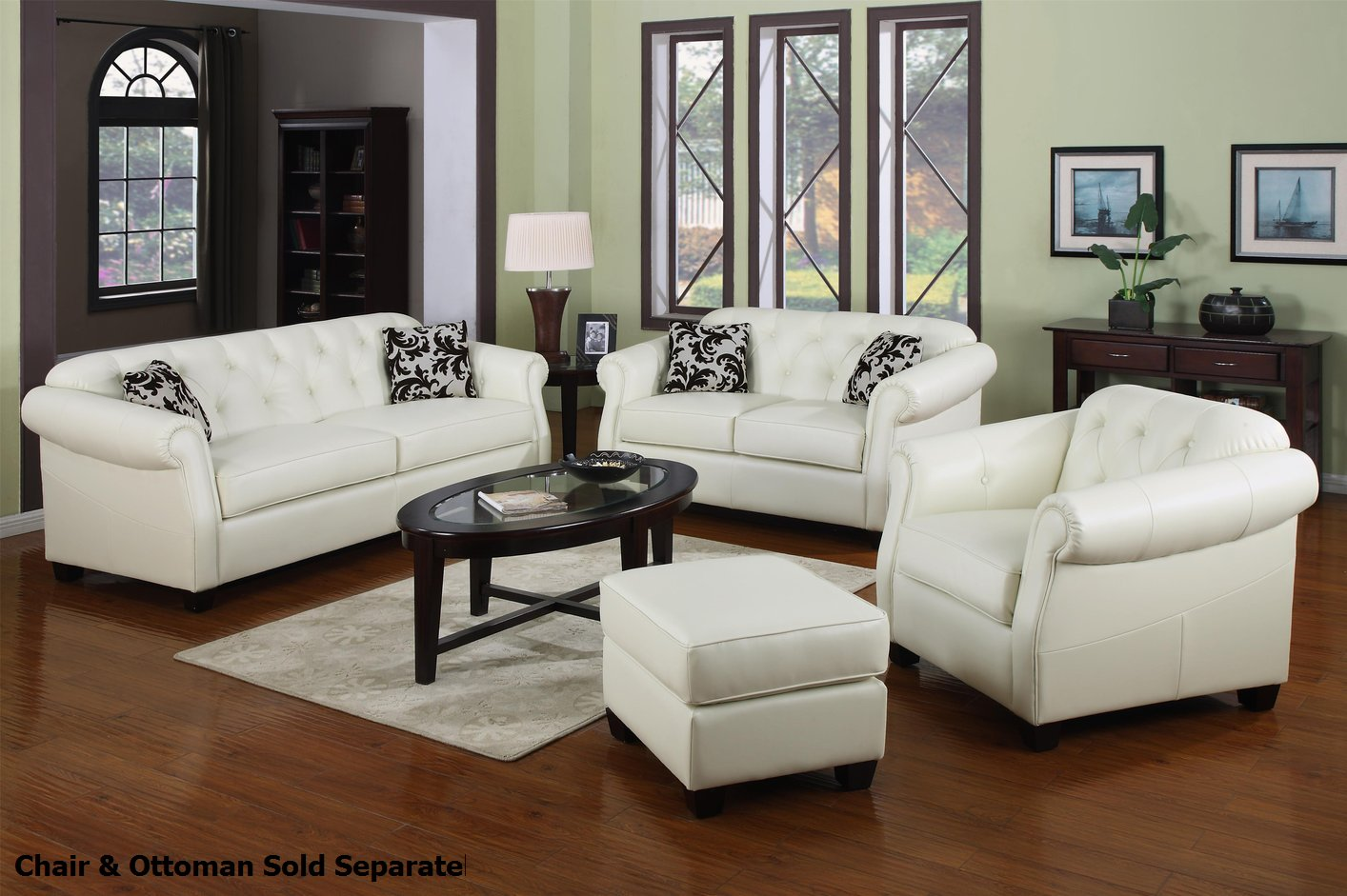 pictures of living rooms with white leather sofas sofa cover canada coaster kristyna 502551 502552 and