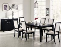Coaster Louise 101561 101562 Black Wood Dining Table Set ...