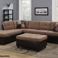 Tan Fabric Sofa High Quality Sofas Uk Coaster Mallory 505675 Beige Sectional Steal