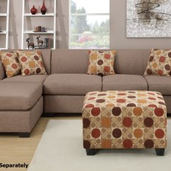 Montreal Sectional Sofa Used Leather For Sale Poundex Iii F7966 F7968 Beige Fabric