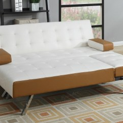 White Sectional Sleeper Sofa Pottery Barn Chloe Table Poundex Nit F7887 Leather Bed Steal