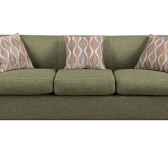 Green Fabric Sofas Average Depth Of A Sofa Poundex Montreal Iv F7978 Steal