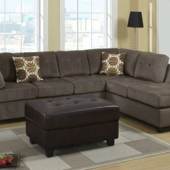 Sectional Sofas Microfiber Cover For Sofa Arm Poundex Radford F7263 Gray In