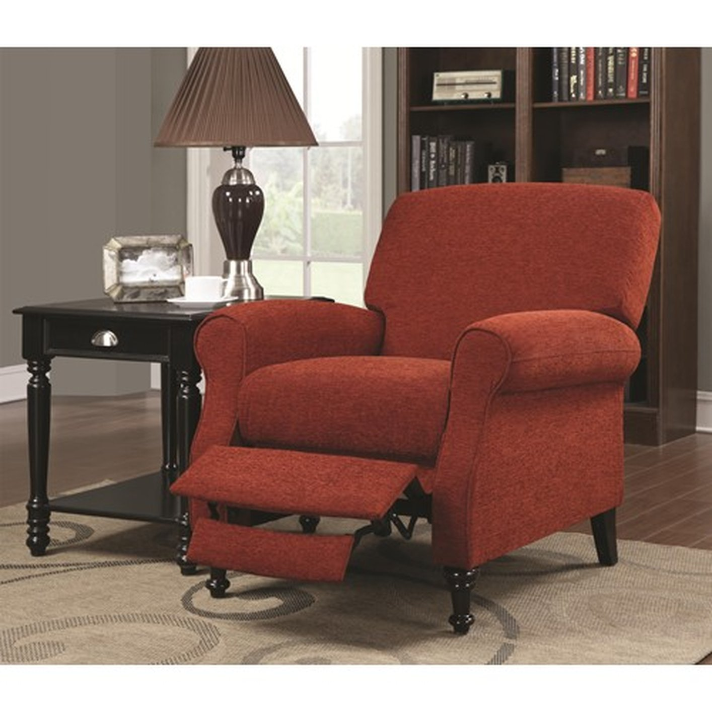 red recliner chairs herman miller sayl task chair coaster 600326 fabric reclining steal a sofa