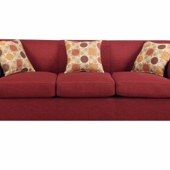 Red Fabric Sofa Sectional Chaise Poundex Montreal Iv F7963 Steal A