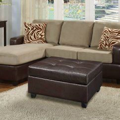 Remy Side Chair Review Guest Chairs For Office Poundex Ellie F7669 Brown Fabric Sectional Sofa And