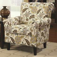 Recliner Accent Chairs Cowhide Upholstered Coaster Rosalie 902082 Brown Fabric Chair Steal A
