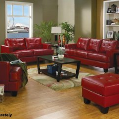 Red Leather Chair And Ottoman Zephyr Desk Coaster Samuel 501831 501832 Sofa Loveseat