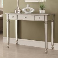 Coaster 950014 Silver Glass Console Table - Steal-A-Sofa ...