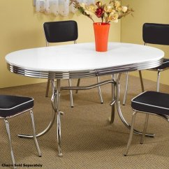 Silver Metal Dining Chairs Revolving Chair Manufacturers In Vadodara Coaster 2065 Table Steal A Sofa