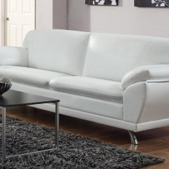 White Leather Sectional Sofa With Ottoman Grey Chaise Longue Coaster Robyn 504541 Steal A