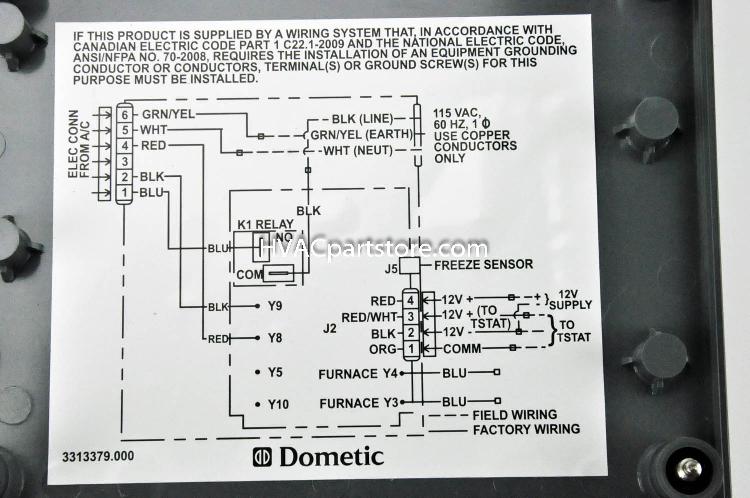 duo therm ac thermostat wiring diagram 2000 ford f250 radio dometic rv