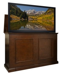 Grand Elevate Espresso TV Lift Cabinet for flat panel TVs ...