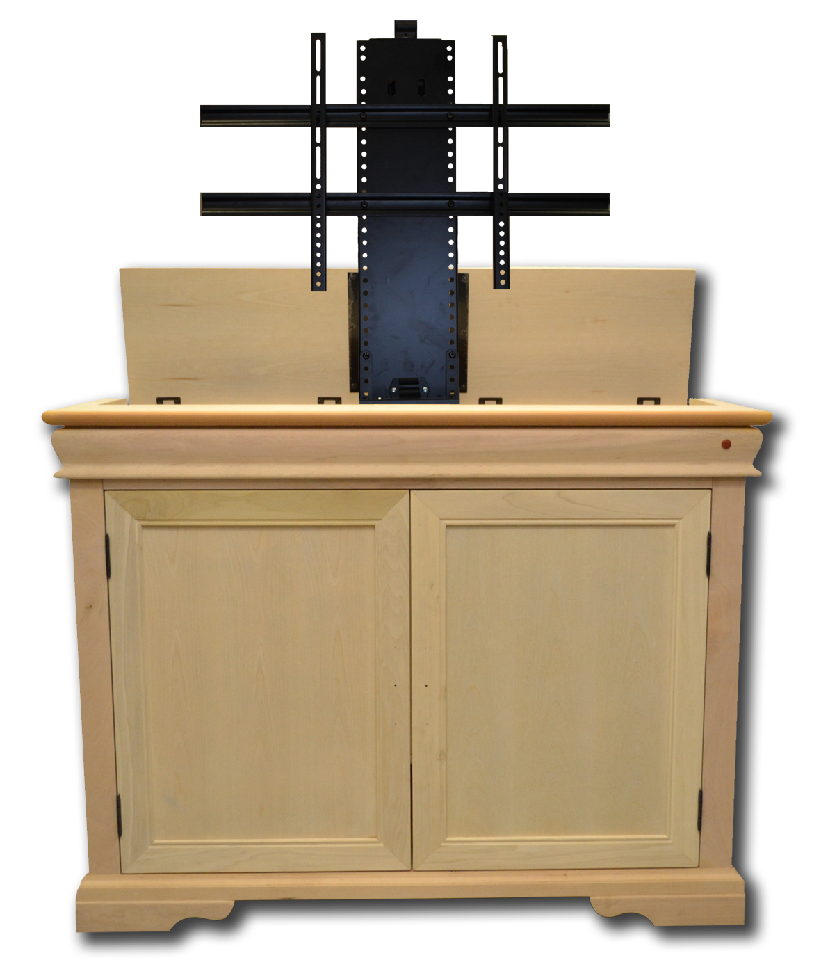 The Tremont Unfinished TV Lift Cabinet For Flat Screen TVs
